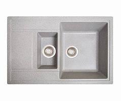 Кухонна мийка гранітна ПРАКТИК сірий