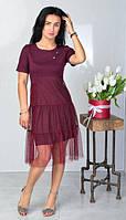 Летнее короткое платье из вискозы, фото 1
