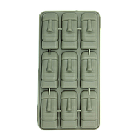 Форма силиконовая для льда Каменные Истуканы Серая