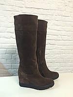 Сапоги с мехом Woman's heel 36 коричневые (О-608), фото 1