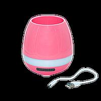 Горшок для растений с музыкой и подсветкой Smart music Flowerpot Розовый