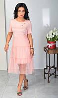 Летнее короткое платье из вискозы