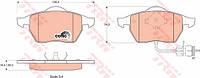 Колодки тормозные AUDI 100 (44, 44Q, C3, 4A, C4) передние (TRW). GDB1049