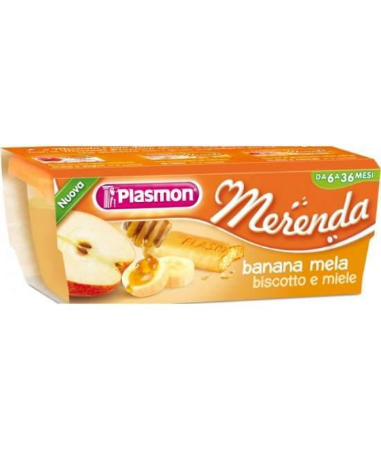Пюре Plasmon Banana Mela от 6 мес. 2х80гр