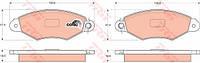 Колодки тормозные CITROEN XSARA, RENAULT KANGOO (KC0/1_) передние (TRW). GDB1321