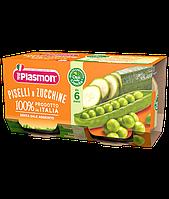Пюре Plasmon Piselli e zucchine от 6мес. 2х130гр