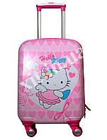"Детский чемодан 18"" на 4 колесах Kitty, фото 1"