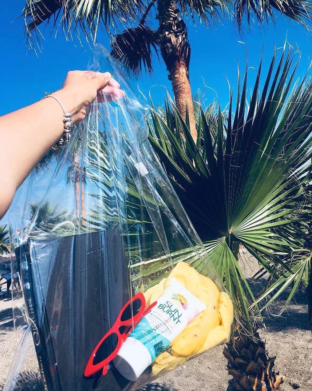 Стильная прозрачная пляжная сумка. Тренд лета 2019!