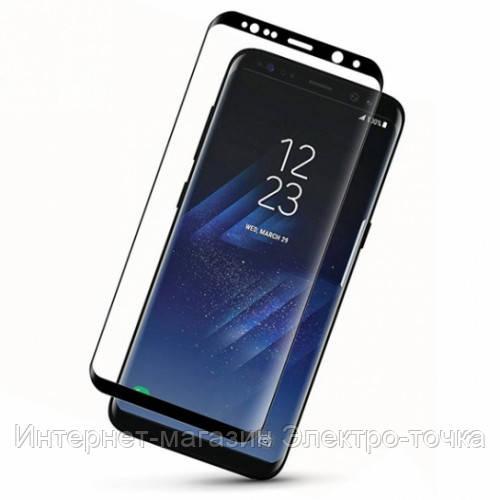 Защитное стекло на телефон Самсунг S8+ G955 3D черное
