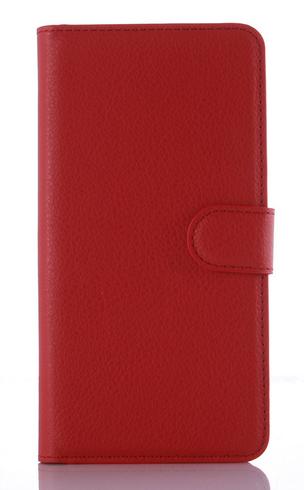 Шкіряний чохол-книжка для Meizu M2 / M2 mini червоний