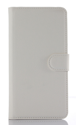 Кожаный чехол-книжка для Meizu M2 / M2 mini белый