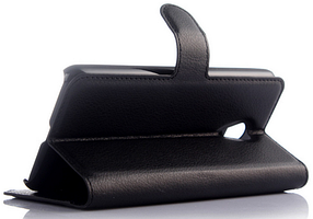 Кожаный чехол-книжка для Meizu M2 / M2 mini белый, фото 3