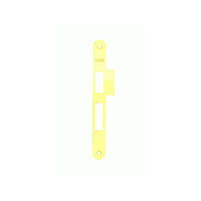 Ответная планка к механизму AGB CENTRO с отбойником латунь B01000.05.03