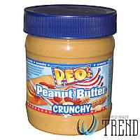 Арахісова паста PEO`s Peanut Butter Creamy Crunchy - 340 гр.