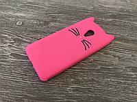 Резиновый 3D чехол для Meizu M3 (M3 Mini) / M3s Усики (2 цвета) розовый