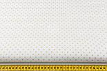 Лоскут ткани с кофейным горошком 3 мм на белом фоне (№1344а), размер 33*80 см, фото 2