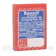 Оклюзійний папір Bausch Arti-Check ВК63 40µm (200 смужок синій/червоний), фото 2