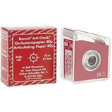Оклюзійний папір Bausch Arti-Check ВК16 40µm (ролик 10м х 22мм), фото 2