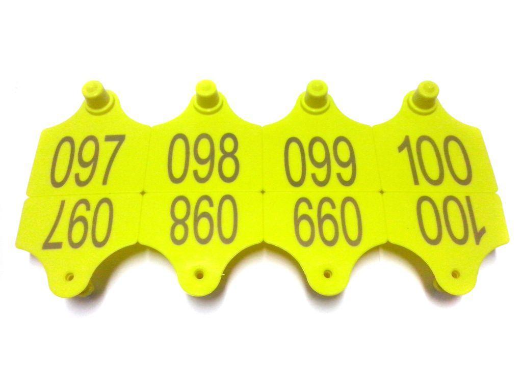 Ушные бирки 40х36 с номером, двусторонние.