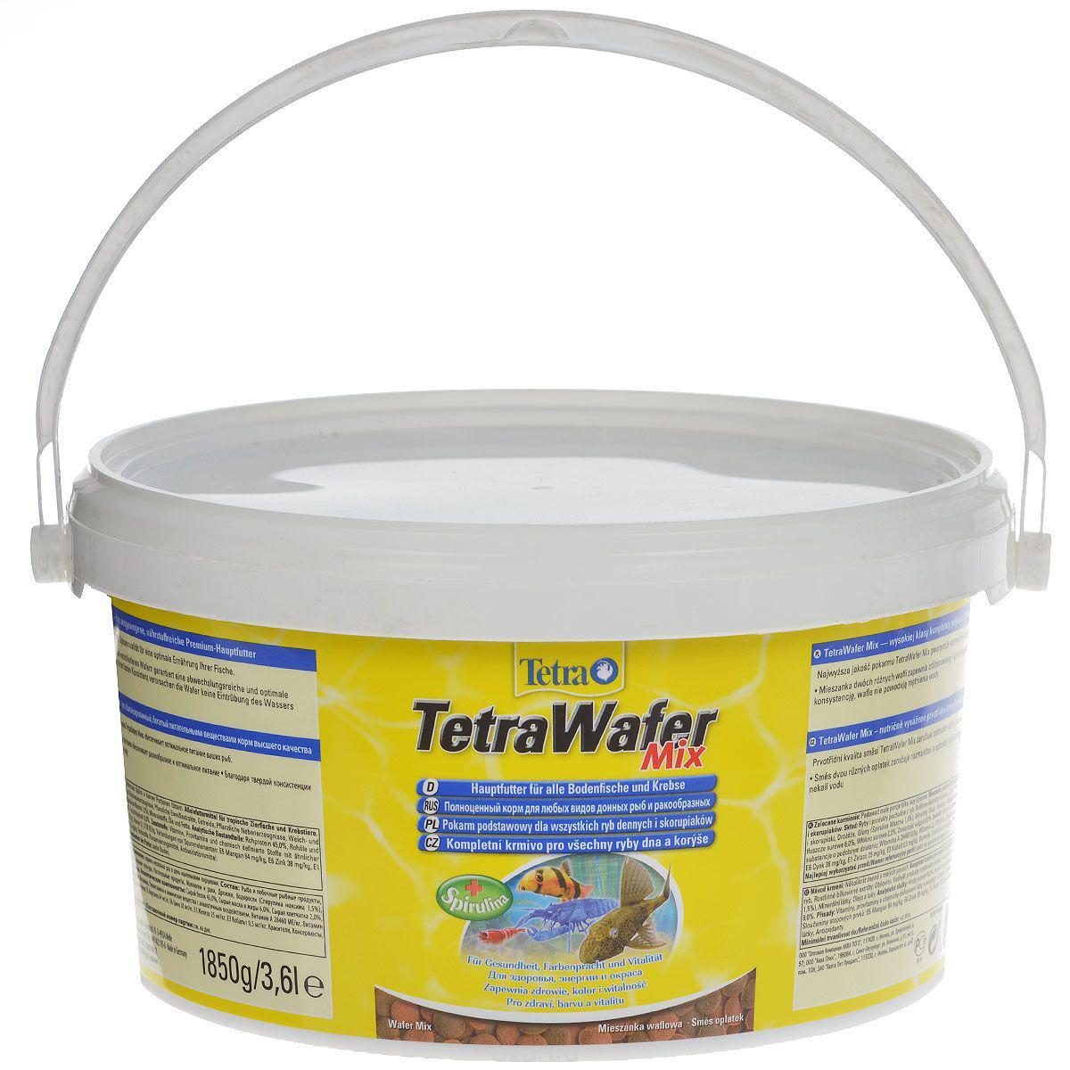 Корм для всех донных рыб и ракообразных Tetra Wafer Mix 3,6 л