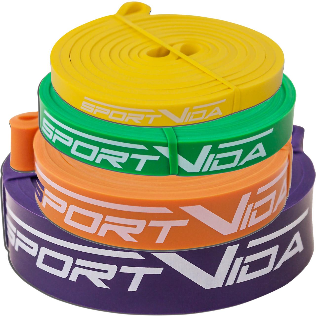 Эспандер-ленточный (резинка для фитнеса и спорта) SportVida Power Band 4 шт 0-26 кг SV-HK004-3456
