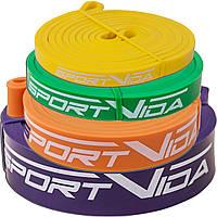 Эспандер-ленточный (резинка для фитнеса и спорта) SportVida Power Band 4 шт 0-26 кг SV-HK004-3456, фото 1