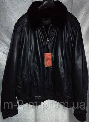 3f4ffc6d697 Куртка STEFANO RICCI кожаная на мутоне темно-синяя - Бутик качественной  мужской одежды. Интернет