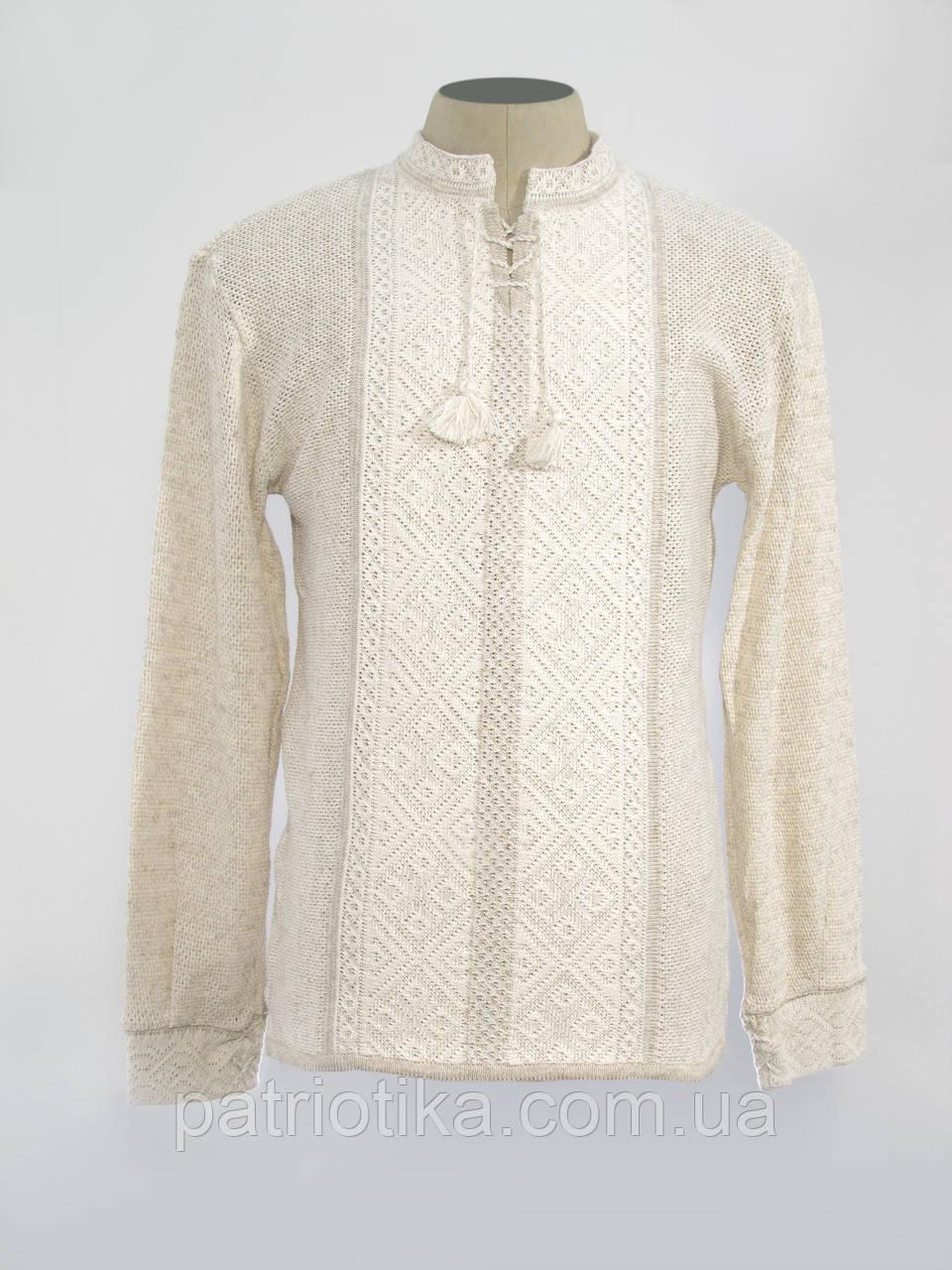 Купить мужскую вязаную вышиванку Назар | Купити чоловічу в'язану вишиванку Назар