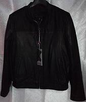 Куртка кожаная CANMORE черная с замшевыми вставками