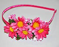 Купить Обруч с цветами - розовый