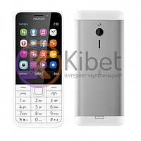 Мобильный телефон Nokia 230 White, 2 Sim, 2.8' (320x240) TFT, 16Mb, microSD (max 32Gb), 2 Cam (2Mp + 2Mp), BT, FM, MP3, Li-Ion 1200mAh