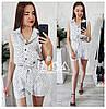 Летний комплект шорты и блузка принт горошек / 4 цвета арт 5664-577, фото 3