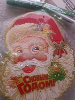 Дед мороз (наклейка на окна)