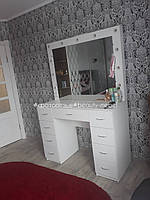 Стол для визажиста, стол с подсветкой