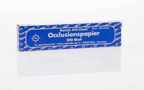 Оклюзійний папір Bausch Arti-Check ВК09 оклюзійний папір  40µm (200 смужок)
