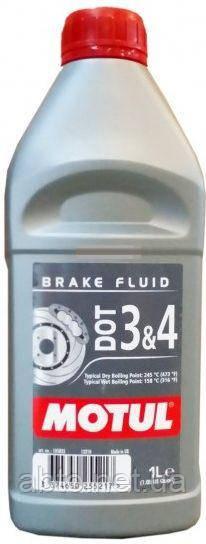 Тормозная жидкость 100% синтетическая MOTUL DOT 3&4 (1L)
