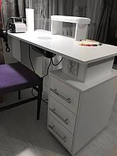 Маникюрный стол с вытяжкой 30вт и Уф лампой