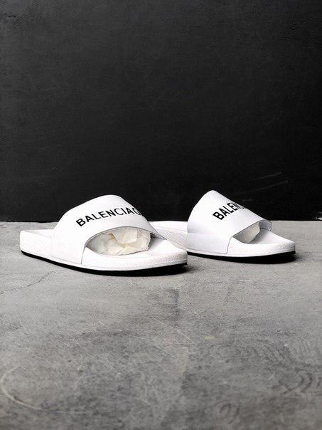 Мужские шлепанцы Balenciaga Slippers White, Копия