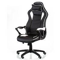 Кресло геймерское NERO black/white черно-белый
