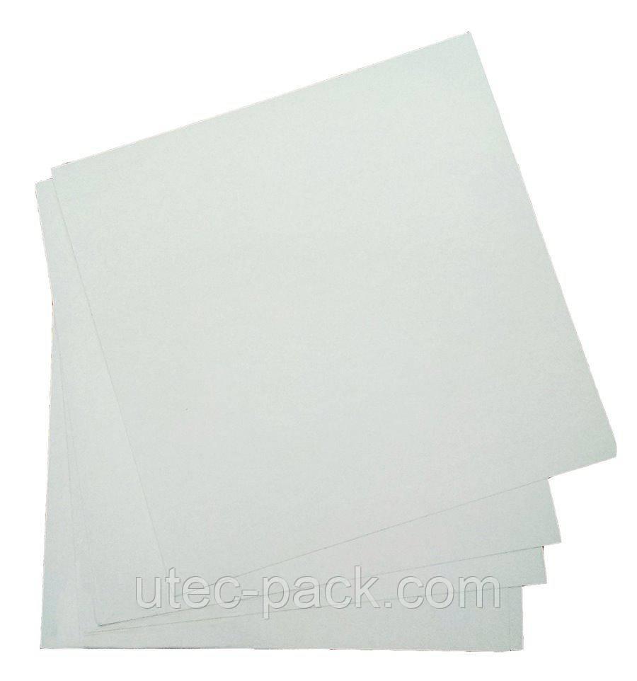 Хром эрзац картон ЮТЭК рулон 30 кг бело-серый КХЭ-30