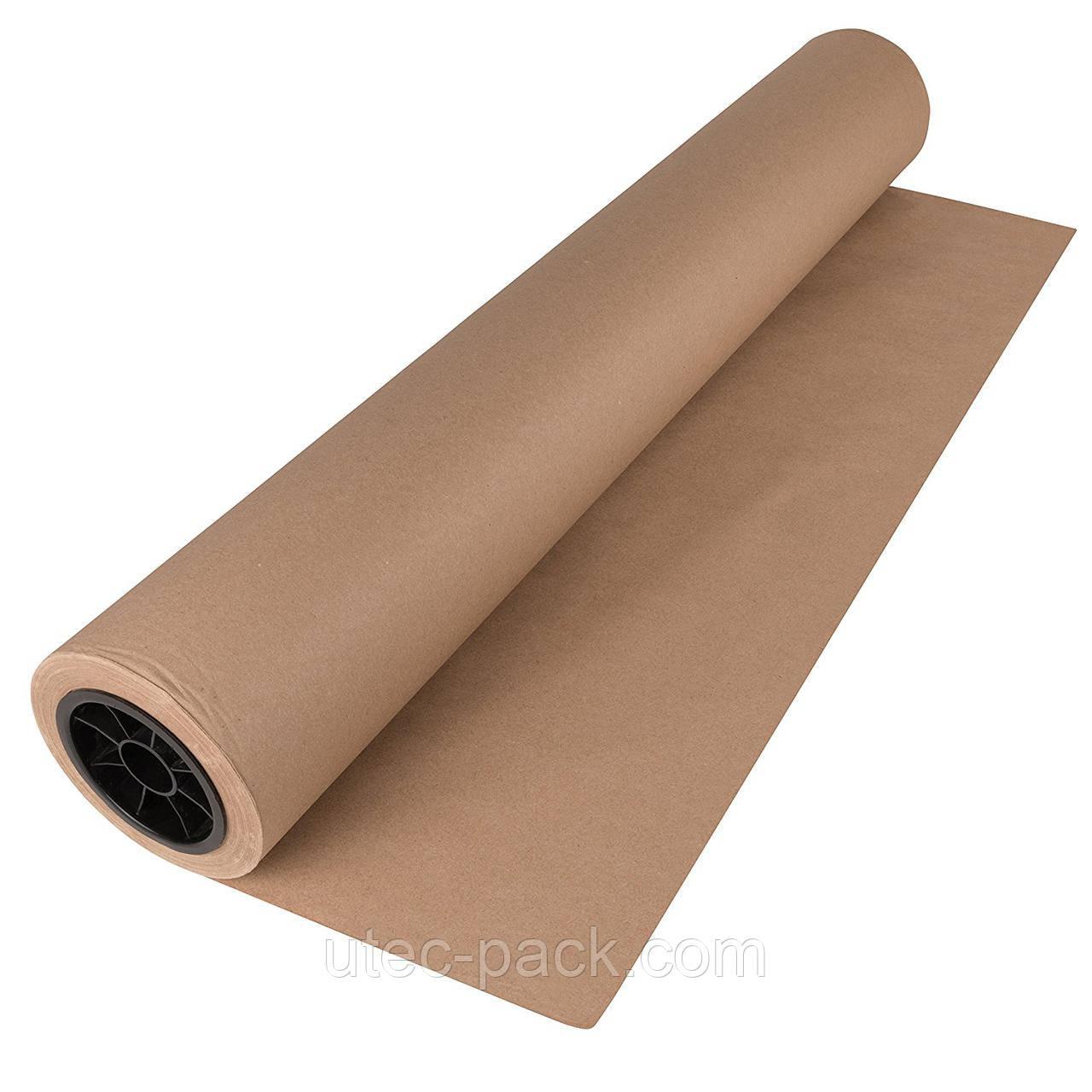 Крафт бумага ЮТЭК в рулоне 80 г/м2 100 м.п коричневая КБР-100