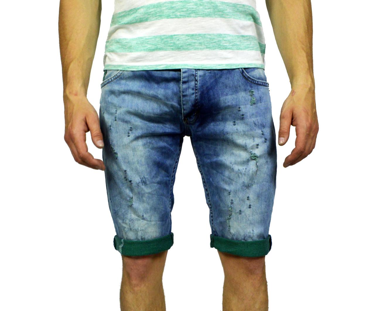 Синие мужские джинсовые шорты JECKERSON на лето