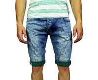 Синие мужские джинсовые шорты JECKERSON на лето, фото 1