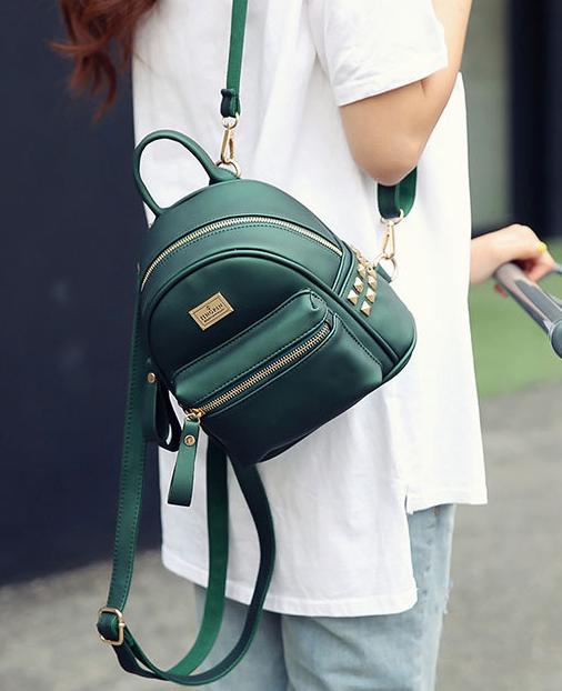 мини-рюкзак изумрудного цвета