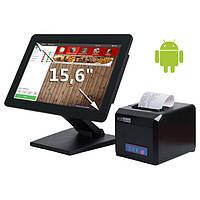 """Комплект POS-оборудования ALFA 15,6"""" для кафе, бара, ресторана (Android)"""