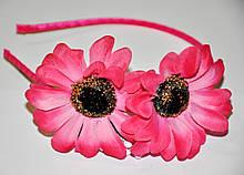 Купить Обручи с цветами - малина