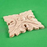 Резьба по дереву. Розетка для мебели. Код Р2, фото 2