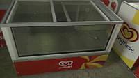 Морозильные камеры-лари БУ 350 литров,стекло впереди и сверху