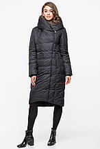 Теплая зимняя женская курточка KTL-223 из новой коллекции 2018-2019 - черная