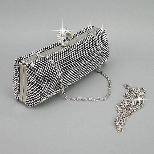 f9e7eba1b520 Серебристый вечерний клатч бокс из камней: продажа, цена в Днепре. женские  сумочки и клатчи от